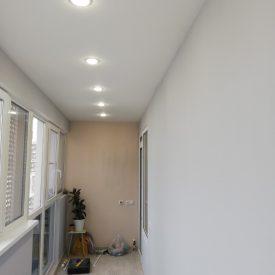 Замена остекления с холодного на теплое, утепление и отделка лоджии, электрика тёплый пол, освещение, резетки. Адрес Европейский 21 корпус 2.